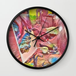 The Universe Inside My Head Wall Clock