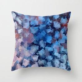 Patriotic Geometric Stacks Throw Pillow