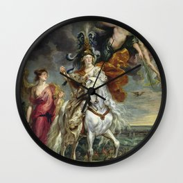 Peter Paul Rubens - The Medici Cycle The Triumph Of Juliers. Wall Clock