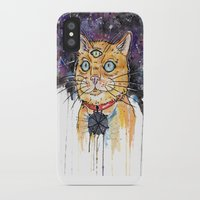 space cat iPhone & iPod Cases featuring Space Cat by scoobtoobins