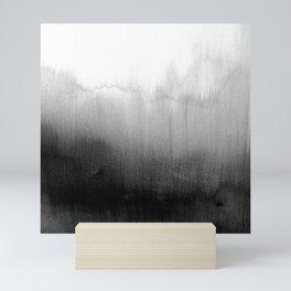 Modern Black and White Watercolor Gradient Mini Art Print