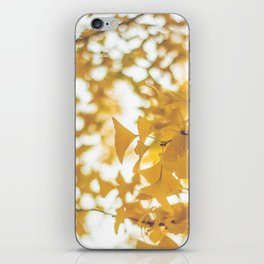 Looking up in yellow iPhone Skin