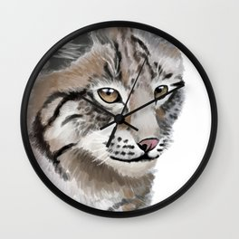 Lynx Cat Wall Clock