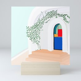 Green Glass Doors Mini Art Print