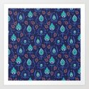 Dark Blue Ikat Doodle Pattern by angiespurgeon