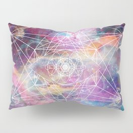 Watercolor and nebula sacred geometry  Pillow Sham