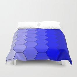 Hexagons (Blue) Duvet Cover