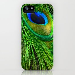 Peacock Glitter iPhone Case