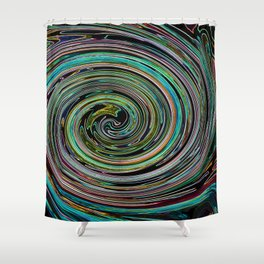 Hypnotic vortex Shower Curtain