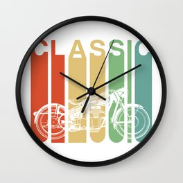 Retro Vintage Motorcycle Gift For Men Classic Biker Gift Wall Clock