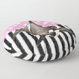Orca Whale Pink Polka Dot Floor Pillow