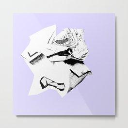 Glitch Scrunch Purple Metal Print