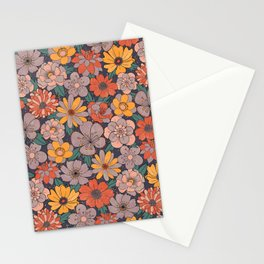70s Retro Bloom Stationery Cards