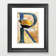 R is for Reef Triggerfish Framed Art Print