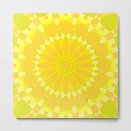 Psychedelic Mandala Kaleidoscope Seamless Pattern Metal Print