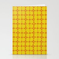 yellow pattern Stationery Cards featuring yellow pattern by JesseRayus