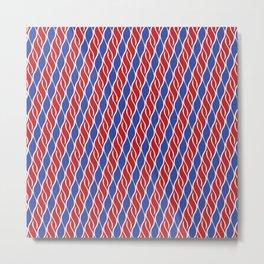 Red and Blue Wispy Stripes Metal Print