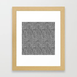 Hand Knit Grey Black Framed Art Print