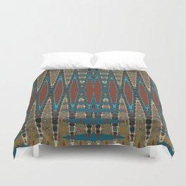South Western Color Palette Mosaic Pattern Duvet Cover