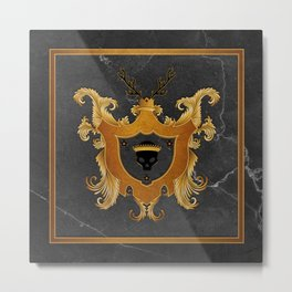 House of Gold and Marble Metal Print