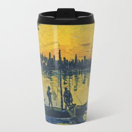 Vincent Van Gogh - Coal Barges Travel Mug