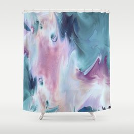 Abstract Art- Watercolor Art- Fractal Art- Blue Art- Ocean- Water- Marann Shower Curtain