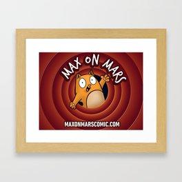 Max on Mars Toon Framed Art Print