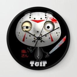 T.G.I.F. (Itai-San) Wall Clock
