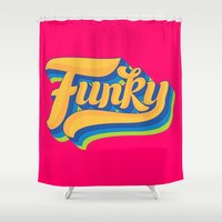 funky Shower Curtains featuring Funky by Roberlan Borges