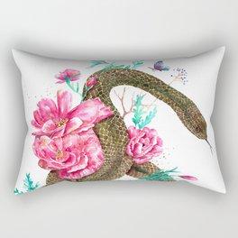 Floral Snake Rectangular Pillow