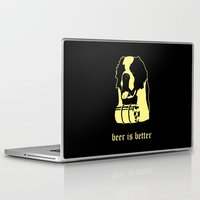 beer Laptop & iPad Skins featuring Beer by Andrea Bettin ART