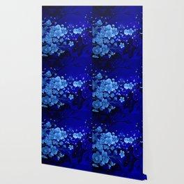 Cherry blossom, blue colors Wallpaper