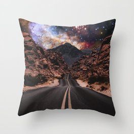 Road Space Throw Pillow