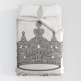 County of Queens | NYC Borough Crown (GREY) Duvet Cover