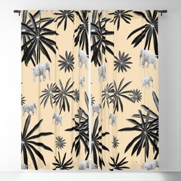Palm Tree Elephant Jungle Pattern #2 (Kids Collection) #decor #art #society6 Blackout Curtain
