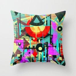 Iron warrior Throw Pillow