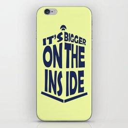 Tardis. it's bigger on the inside iPhone Skin