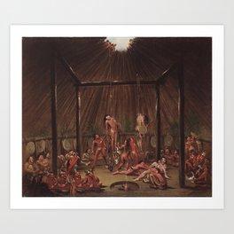 George Catlin - The Cutting Scene Art Print