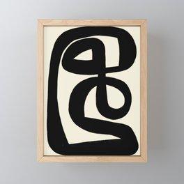 Modern Minimal Abstract #6 Framed Mini Art Print