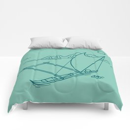 Outrigger Canoe Comforters