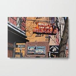 Signs of Greenwich Village, NYC Metal Print