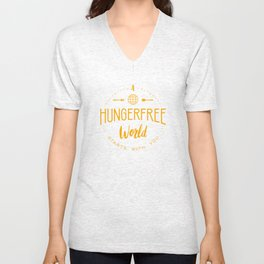 A HungerFree World Starts With You Unisex V-Neck