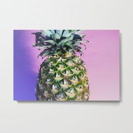 Purple Pineapple Metal Print