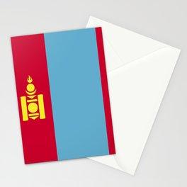 Mongolia flag emblem Stationery Cards