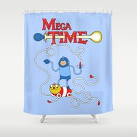 megaman Shower Curtains featuring Mega Time! by Pengew