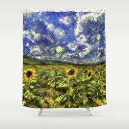 Summer Sunflowers Van Gogh Shower Curtain
