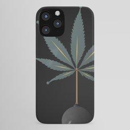 savage flora - hemp leaf iPhone Case