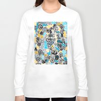 bikes Long Sleeve T-shirts featuring Bikes pattern by Chris Piascik