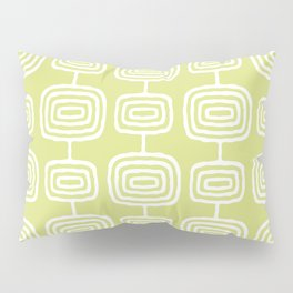 Mid Century Modern Atomic Rings Pattern 731 Chartreuse Pillow Sham