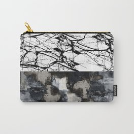 Two Faced - Double abstract patterns, marble and textured Carry-All Pouch